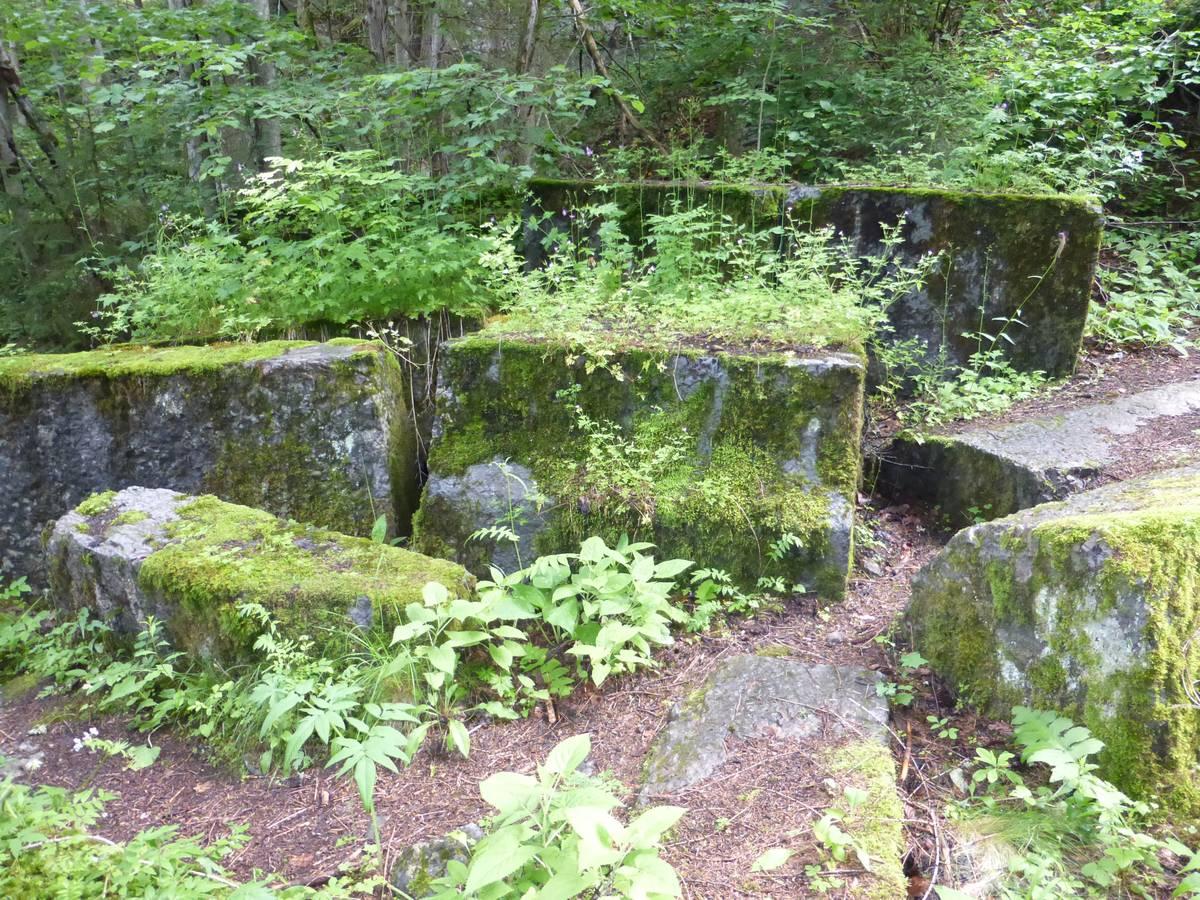 Unfinished abandoned blocks on site (photo DG).