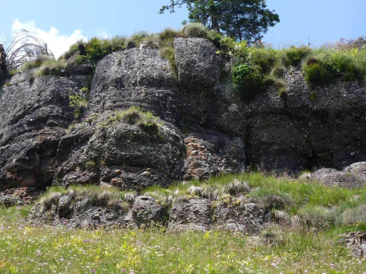 Conglomerato della Marmolada nei pressi di F.lla Caoz (foto D.G.).