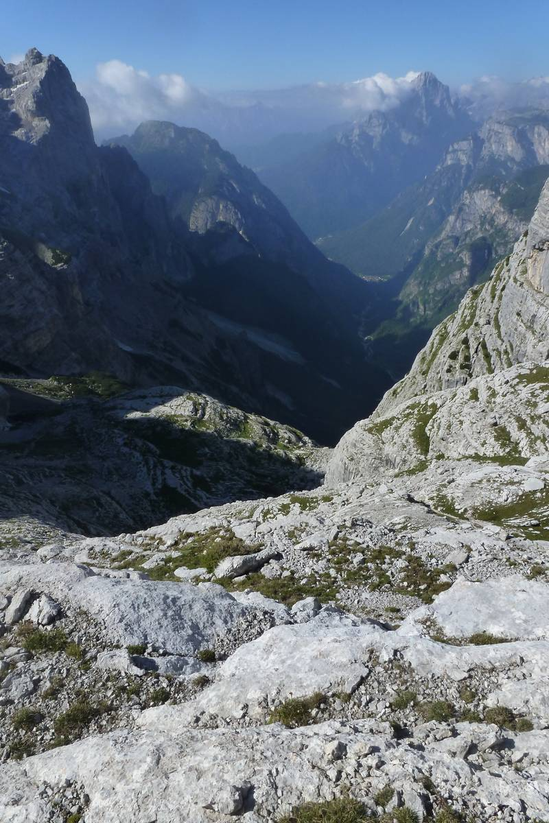 La Val Corpassa dal ciglio del Van delle Sasse