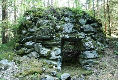 Restructured historical lime kiln in