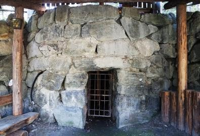 A lime kiln constructed in 2004 as part of the lime-burning adventure park in Sautens.