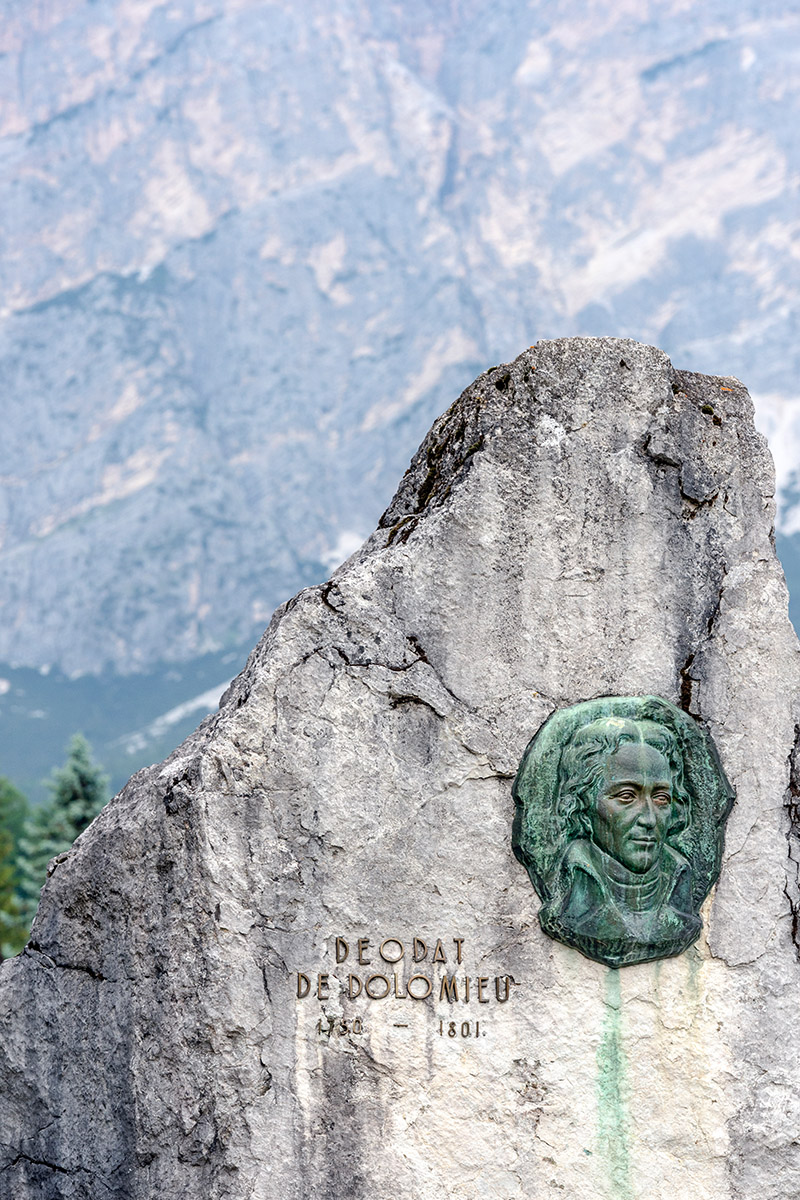 Deodat de Dolomieu's Memorial (photo by Giacomo De Donà)
