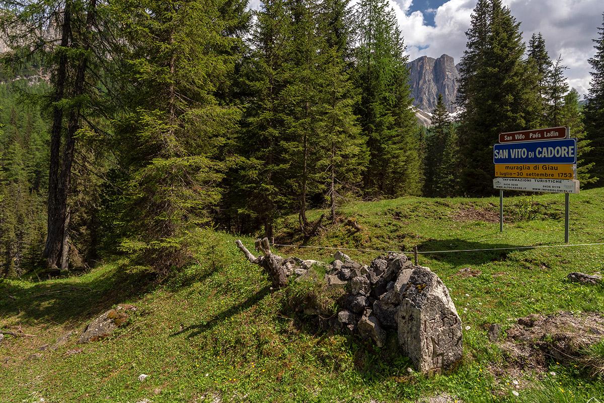 Die Grenzfelsen und die Mauer von Giau (foto von Giacomo De Donà)