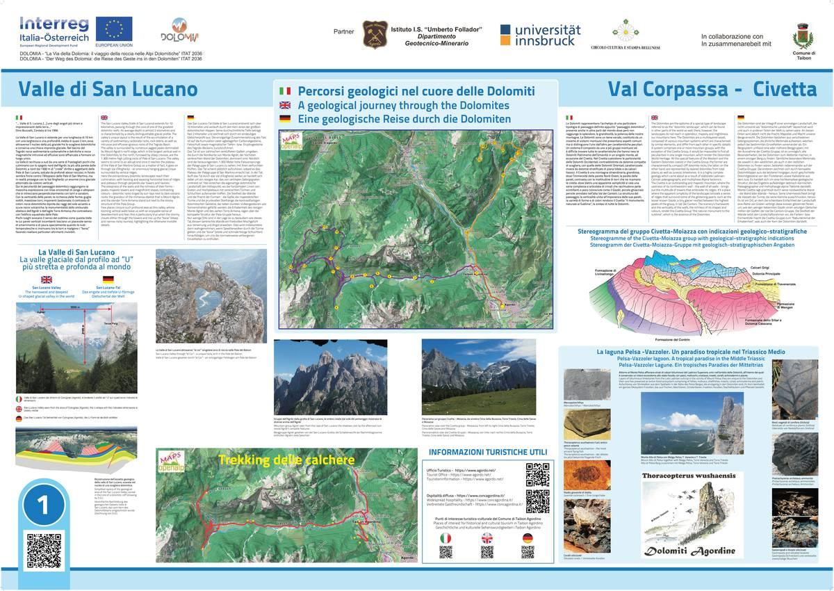 1. Taibon Agordino - Percorsi geologici nel cuore delle Dolomiti